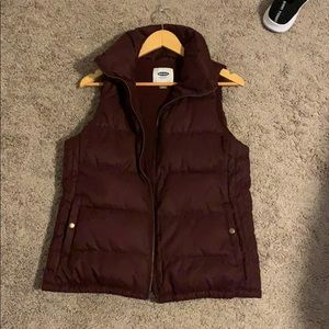 Maroon puffy vest